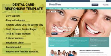 Dental Care HTML template