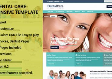Dental Care HTML template
