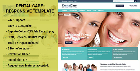 dental care responsive html template dentists doctors clinics