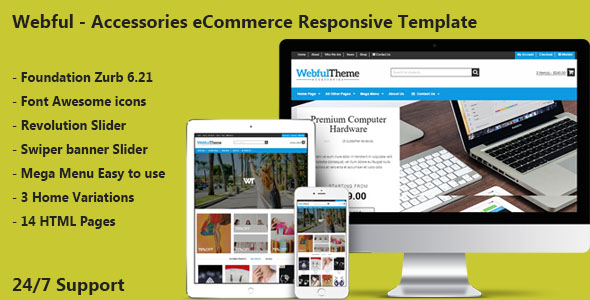 accessories free ecommerce responsive html template