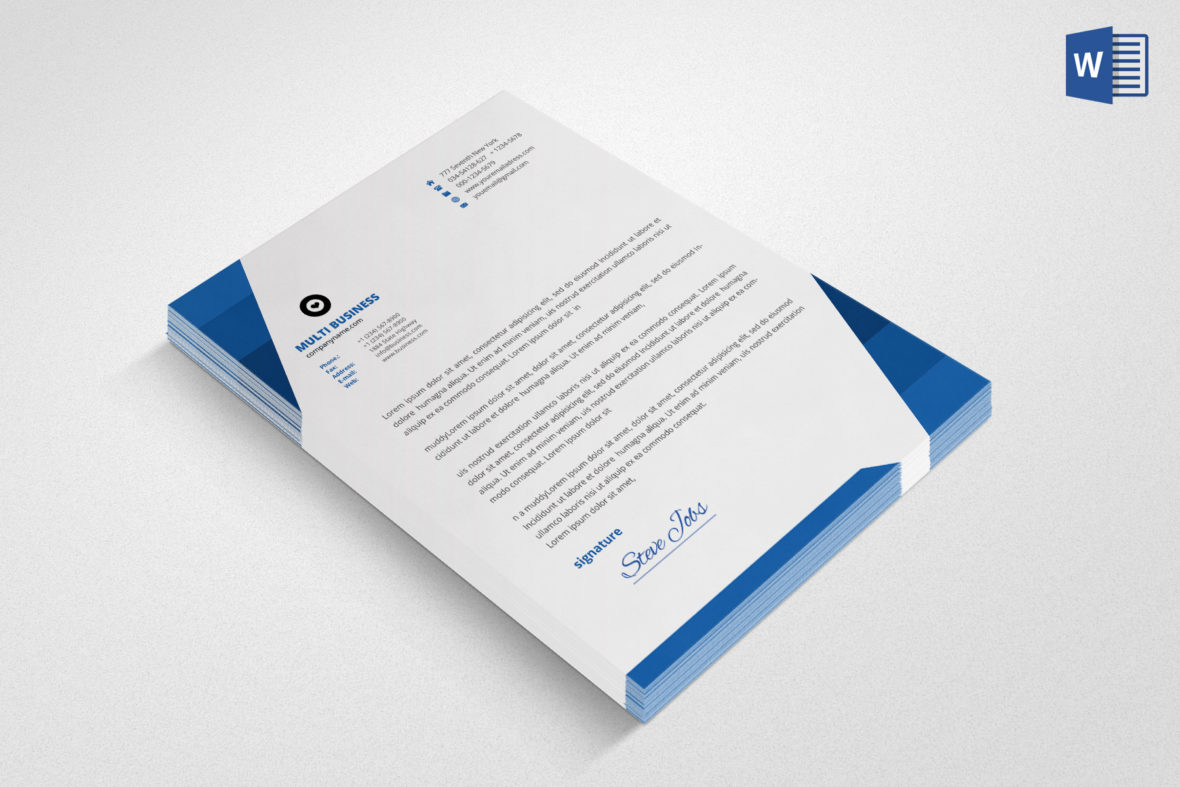 20 letterhead templates in psd ms word letterhead template flashek Image collections