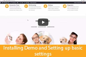 installing veterinary wordpress theme demo