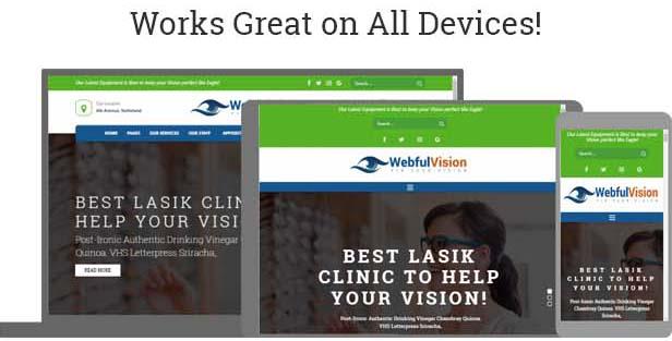 optician wordpress theme responsive on all devices