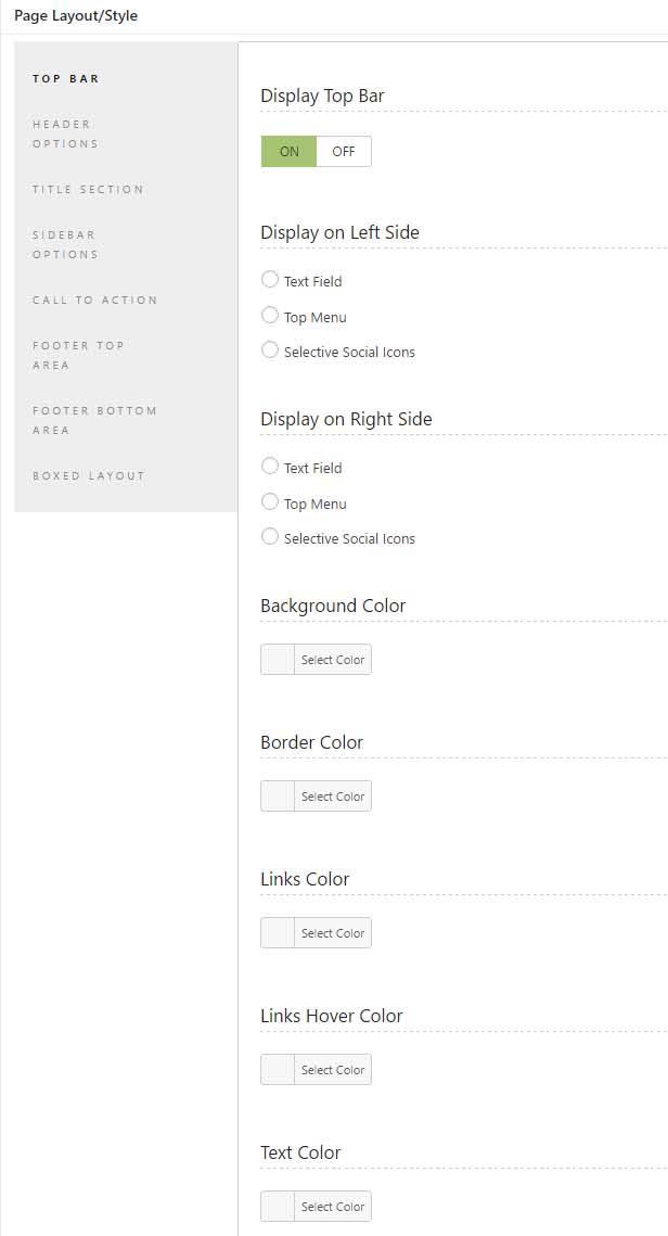 optometrist WordPress theme page post customization options