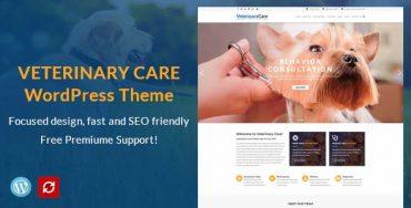 veterinary care WordPress theme