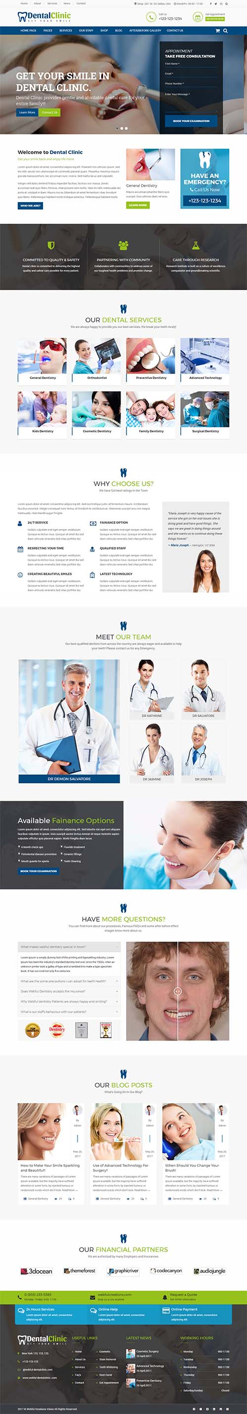 dental clinic dentist and medical html template webful creations
