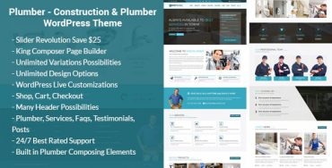 Plumber and Construction WordPress theme