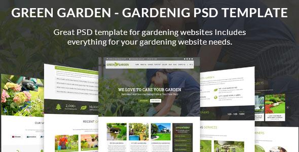Green Garden PSD template
