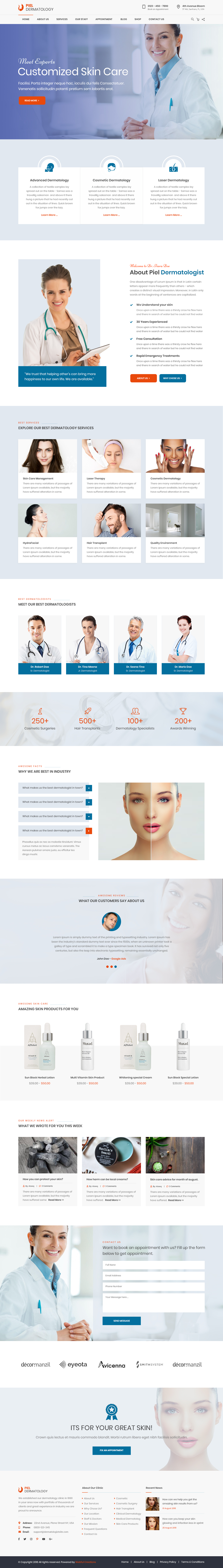 Dermatologist WordPress Theme