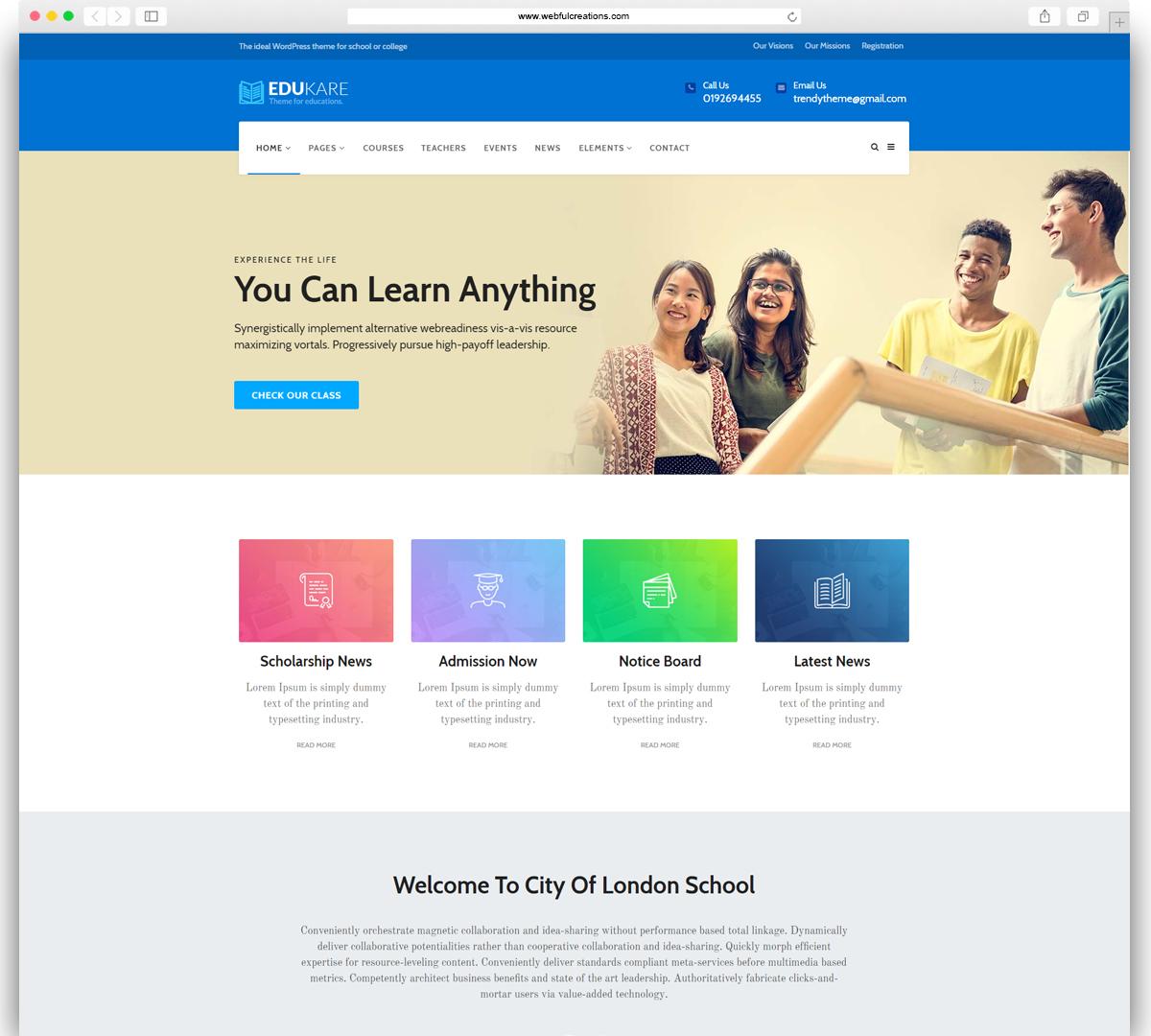 EduKare WordPress Theme