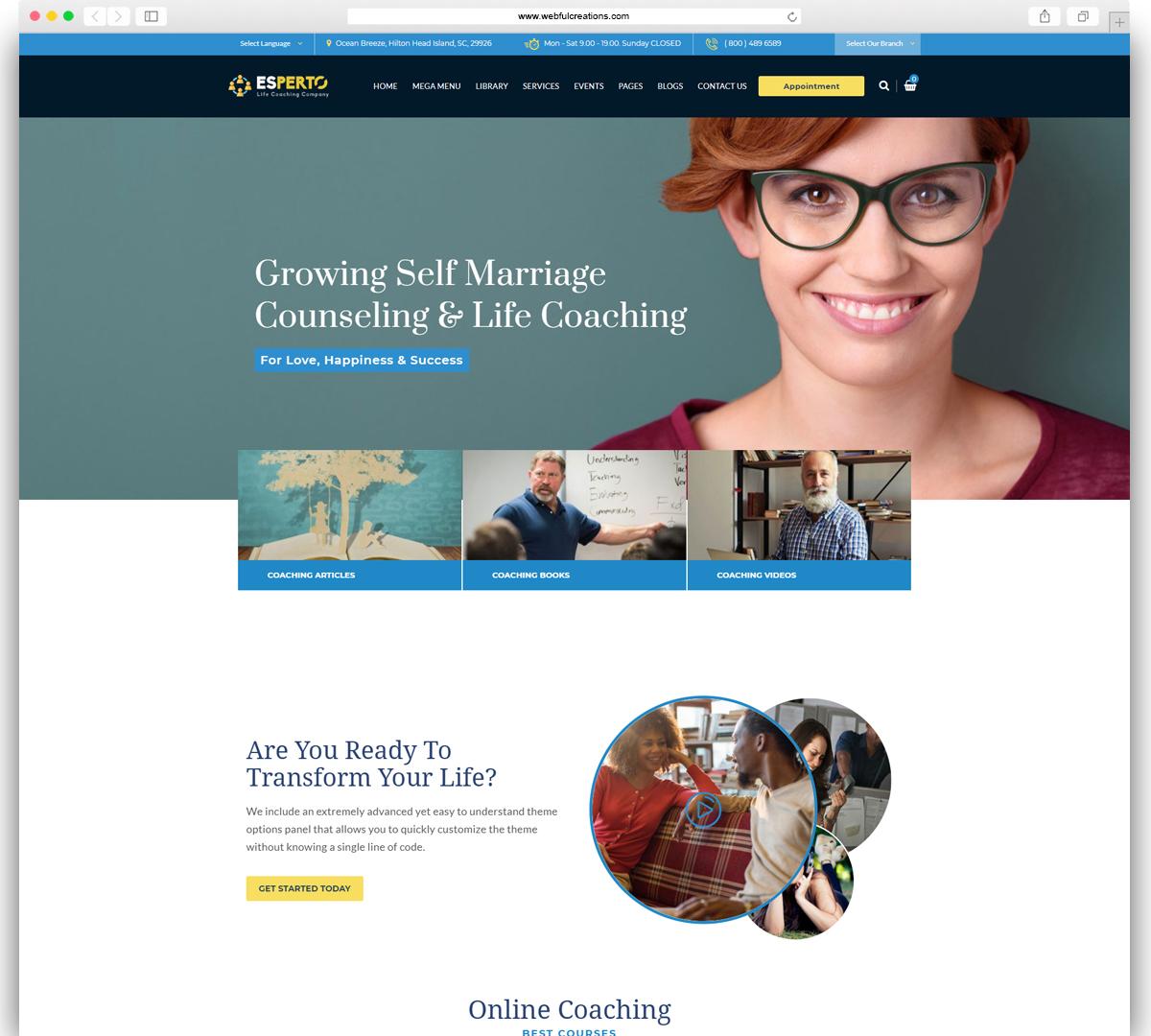 Esperto - A Consultancy and Coaching WordPress Theme