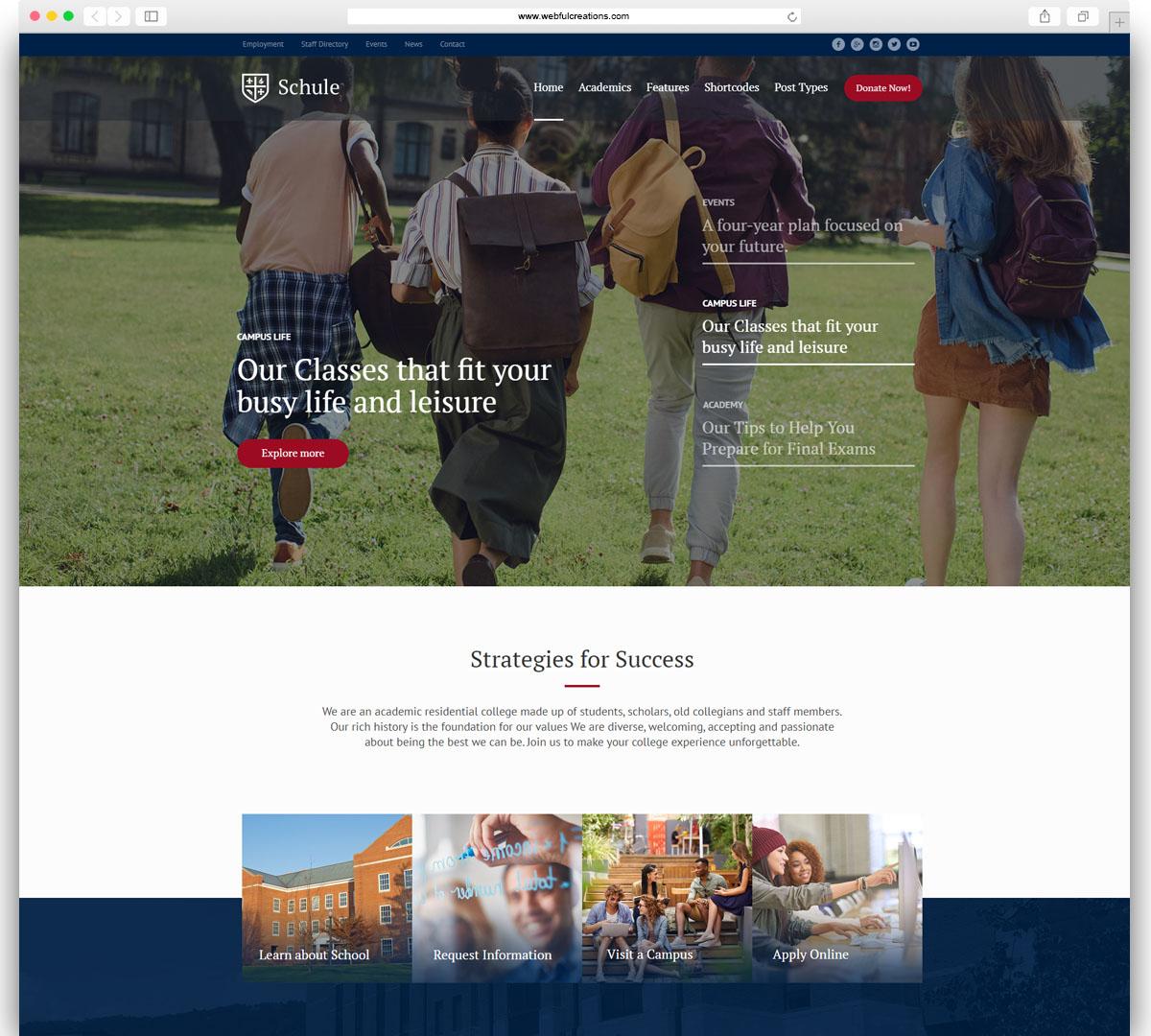schule education WordPress Theme