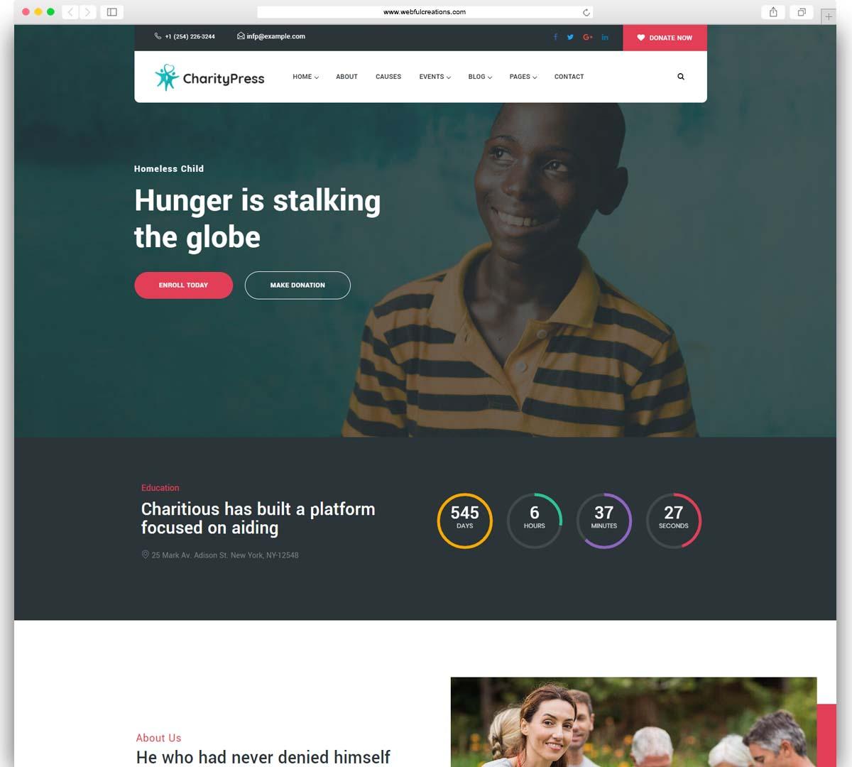 Charitious - Non Profit Fundraising Charity WordPress Theme