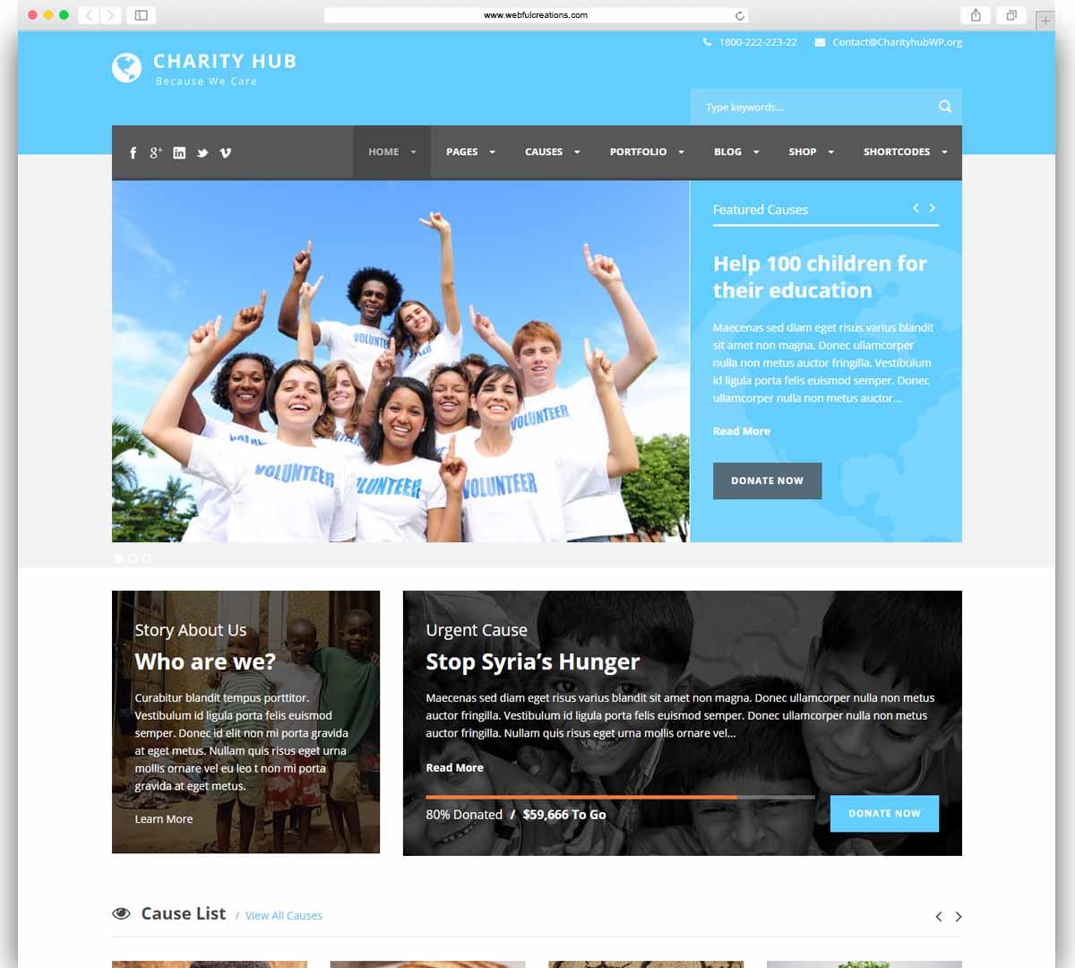 Charity Hub - Charity - Nonprofit - Fundraising WP