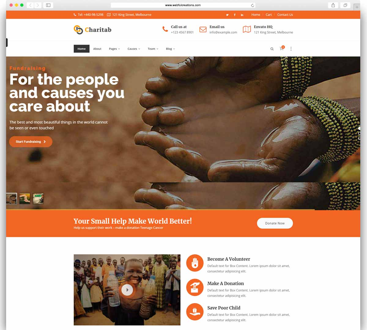 Charity - NonProfit Charity WP