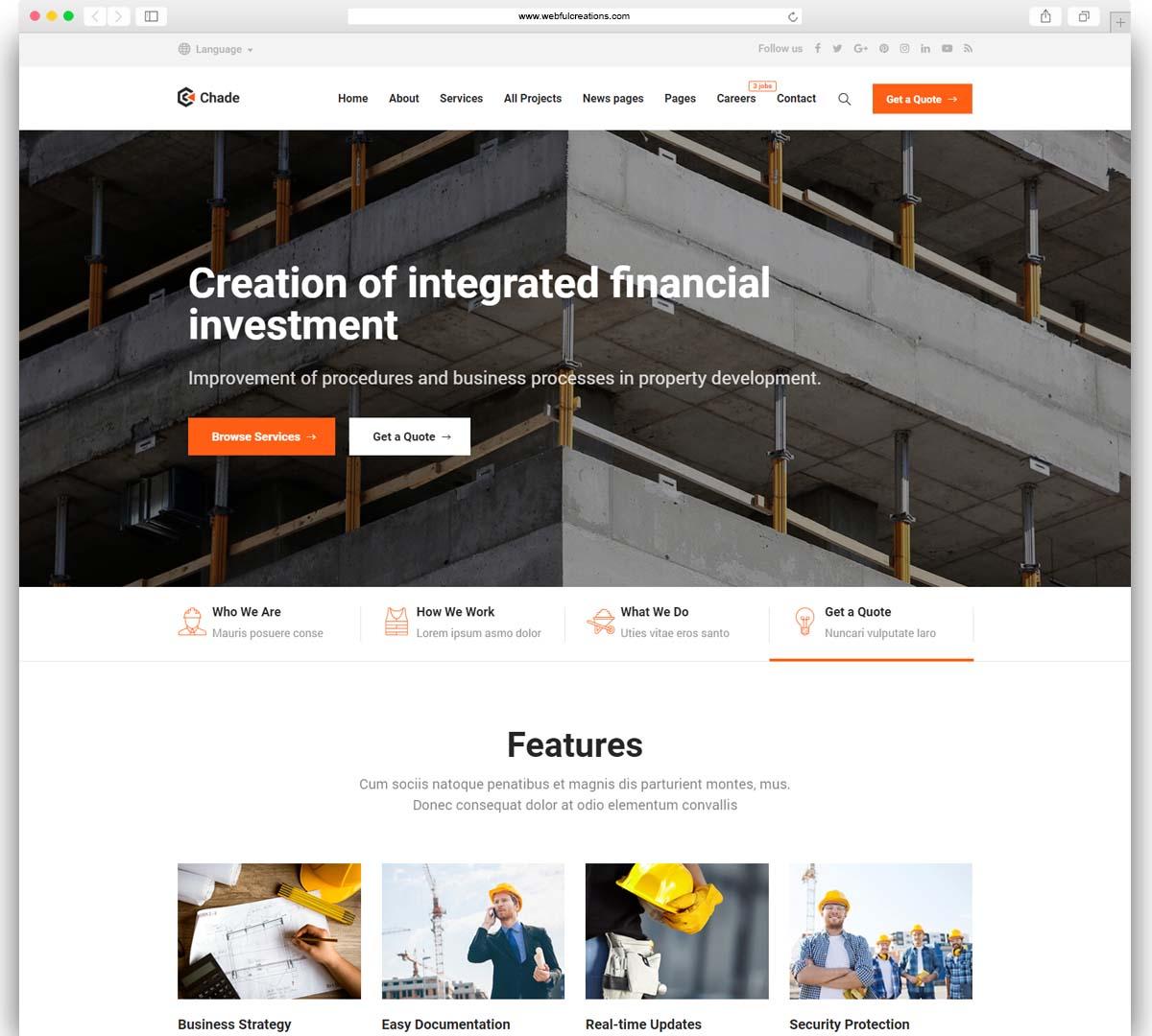 Construction Chade - Construction WordPress for Construction