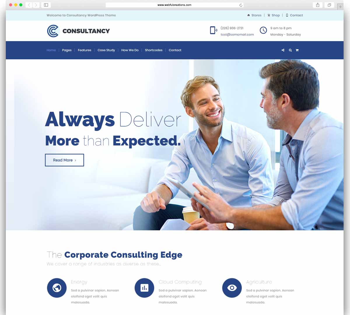 Consultancy - Business Consulting, Finance Consulting Theme