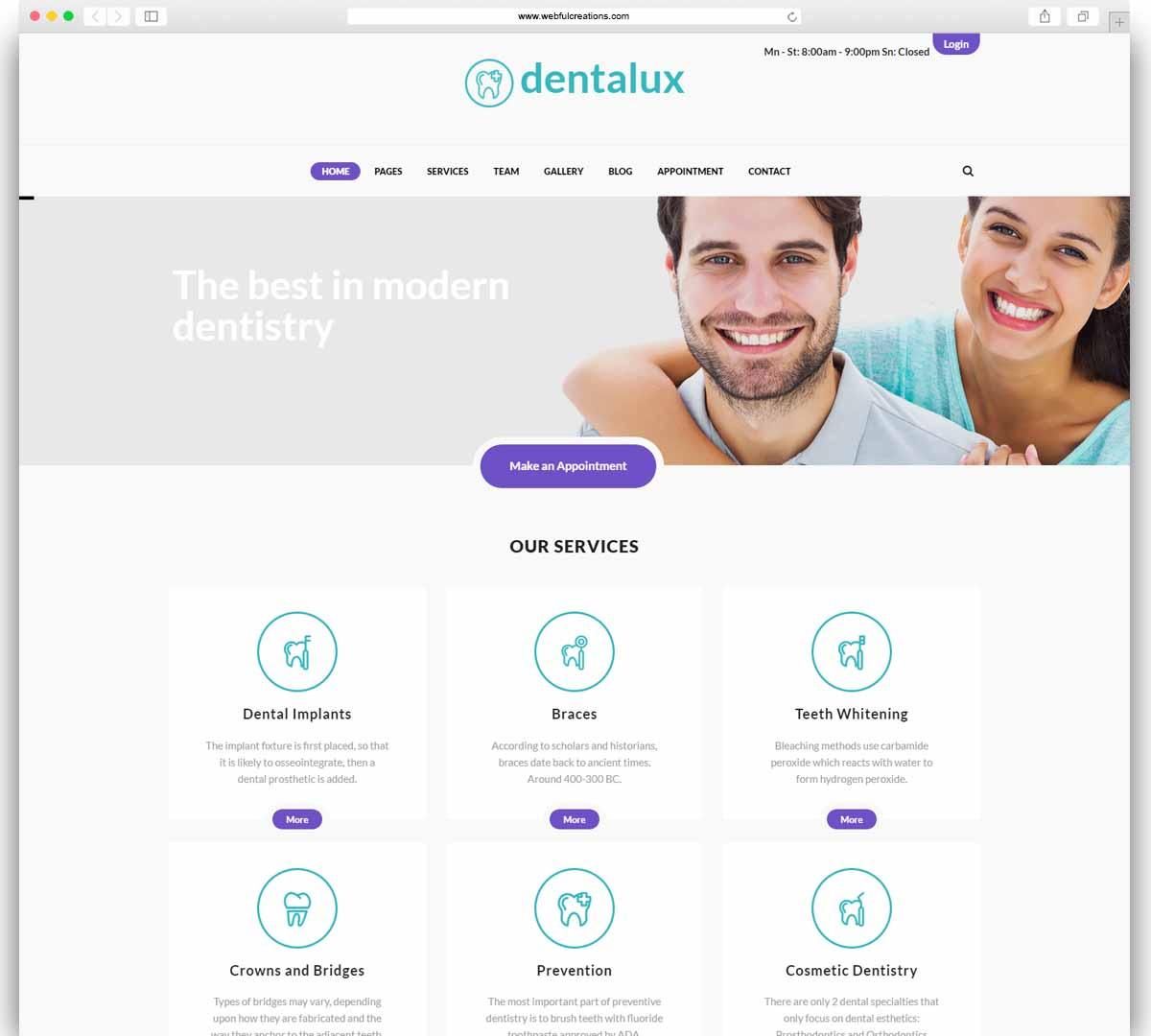 Dentalux - A Dentist Medical & Healthcare WordPress Theme