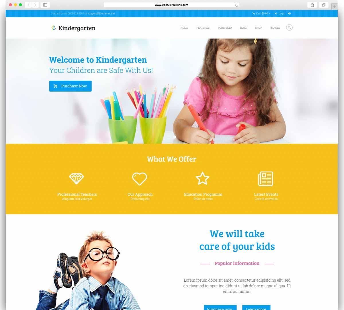 Kindergarten - Children WordPress Theme