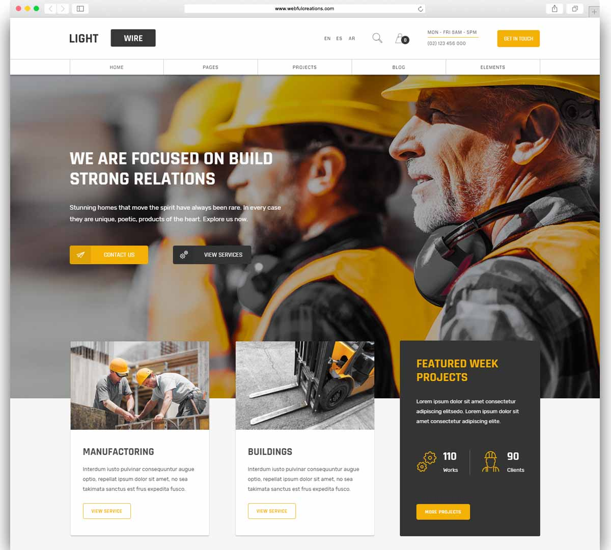Lightwire - Construction and Industry - Construction - Industry
