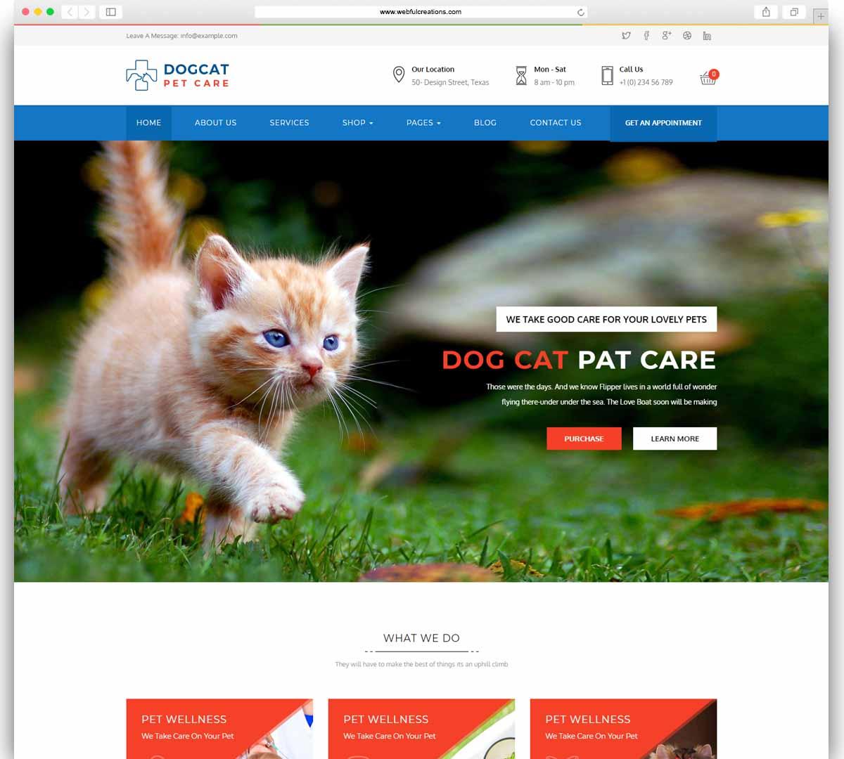 Pet Care - Veterinary WordPress Theme