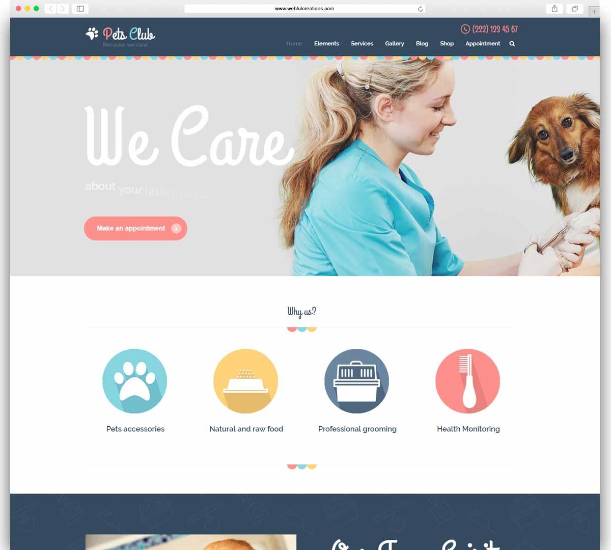 Pets Club - Pet Care, Shop & Veterinary WordPress Theme