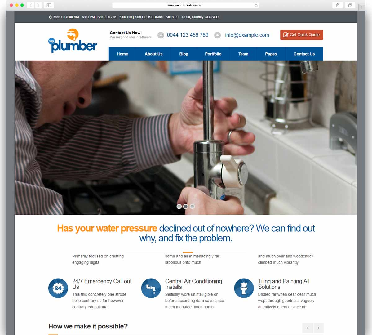 Plumber - Building & Construction Business Theme