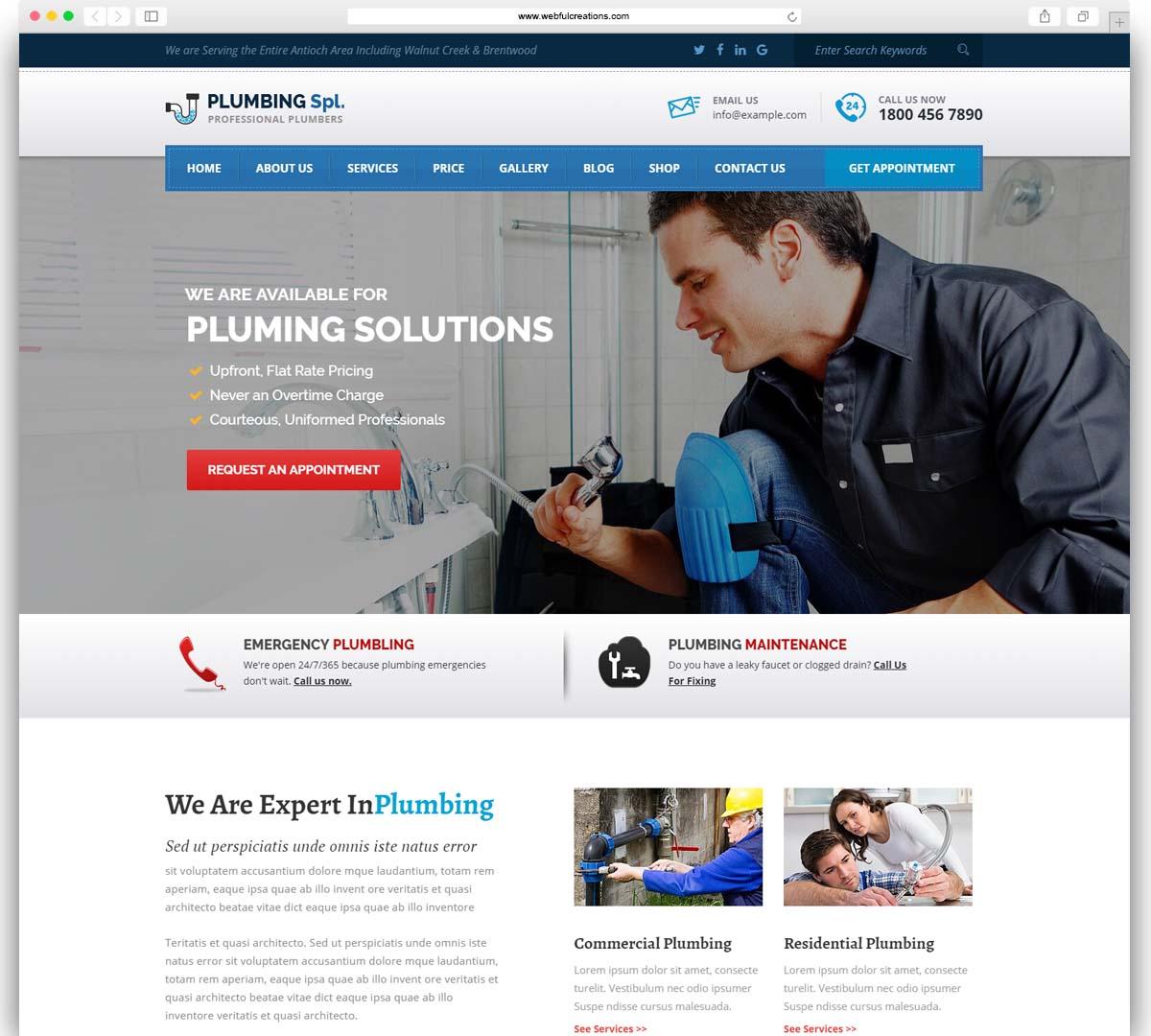 Plumbing Spl - Plumber WordPress Theme