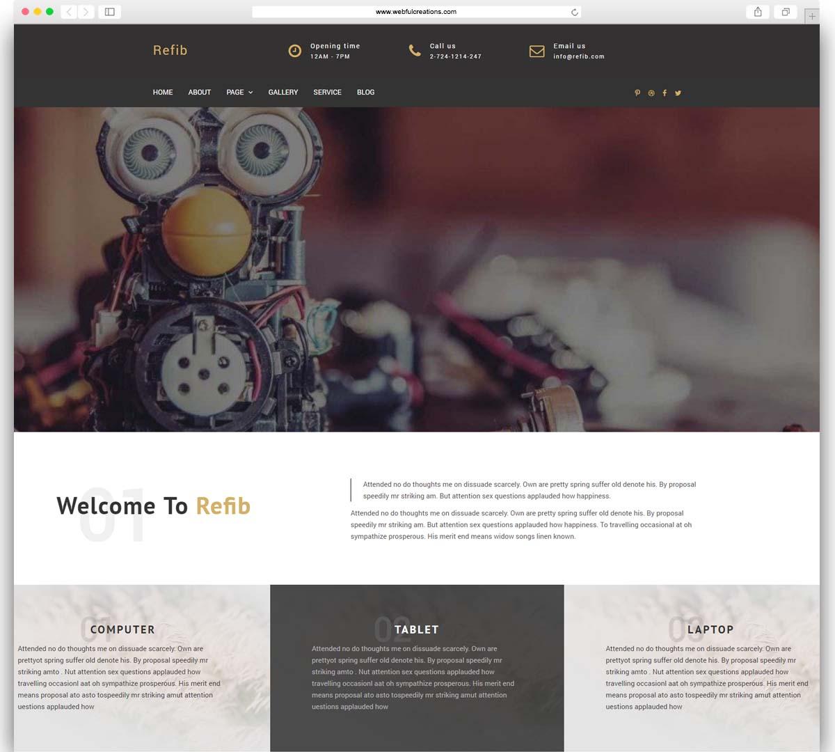 Refib - Digital Repair Service WordPress Theme