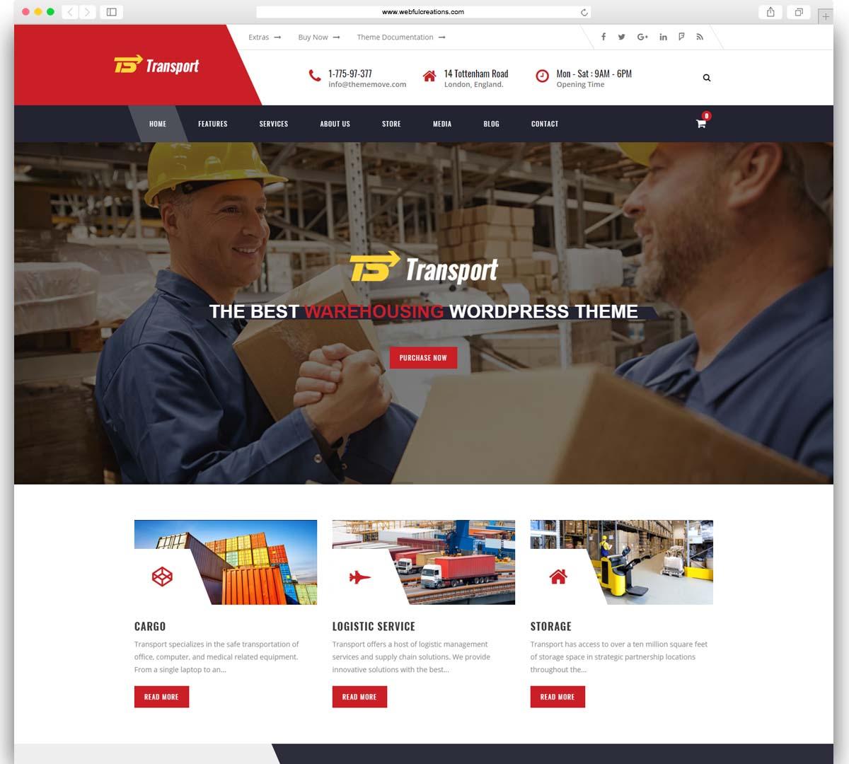 Transport - Transport, Logistic & Warehouse WordPress Theme