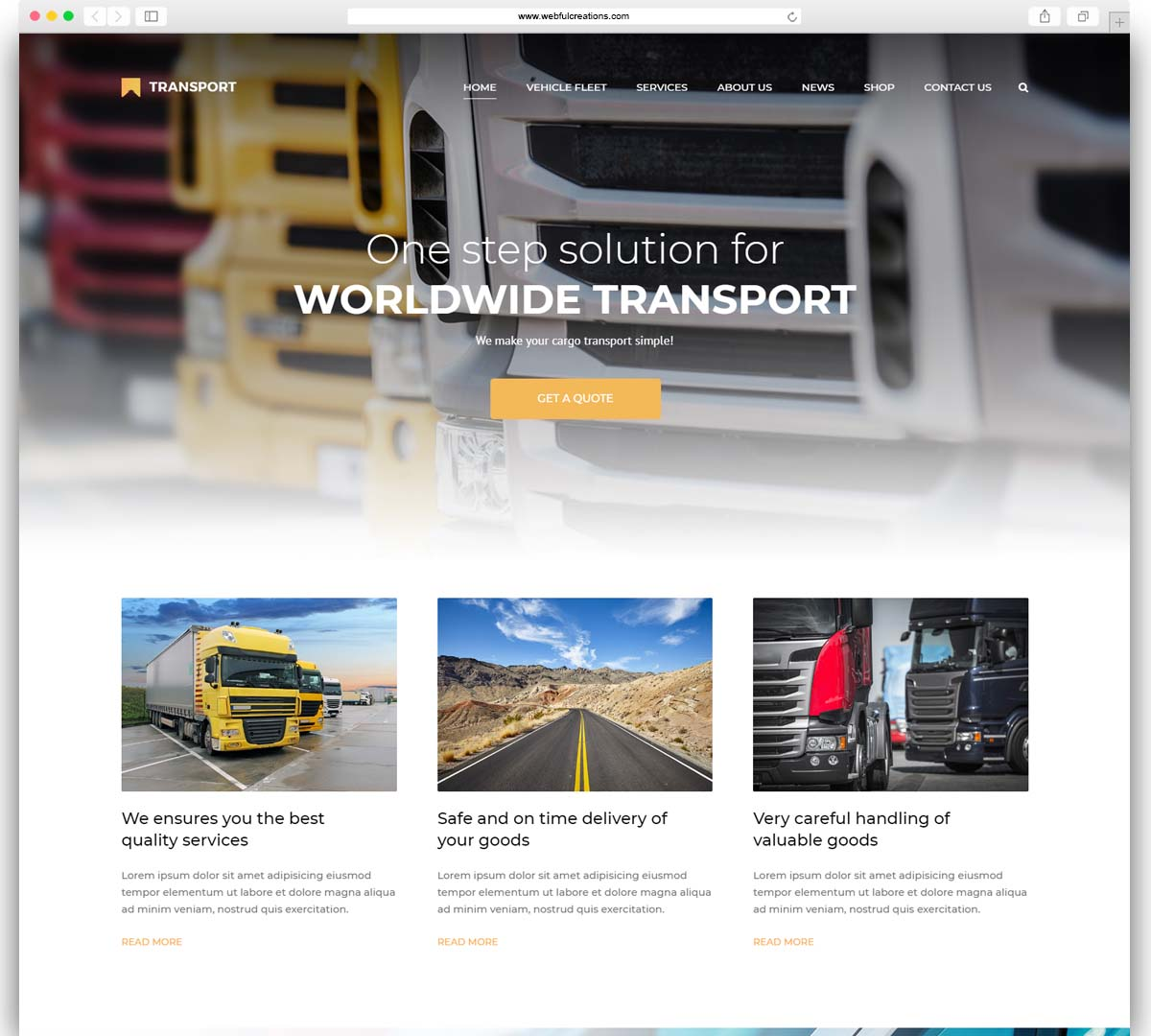 Transport - WP Transportation & Logistic Theme