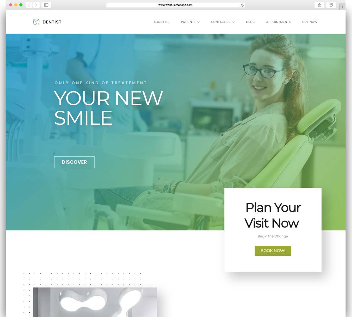 dentist WordPress theme