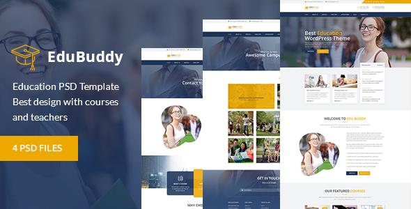 Education Buddy PSD template