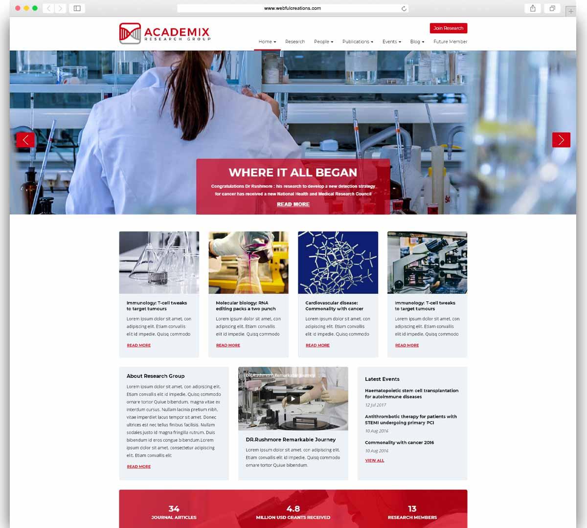 Academix education WordPress theme