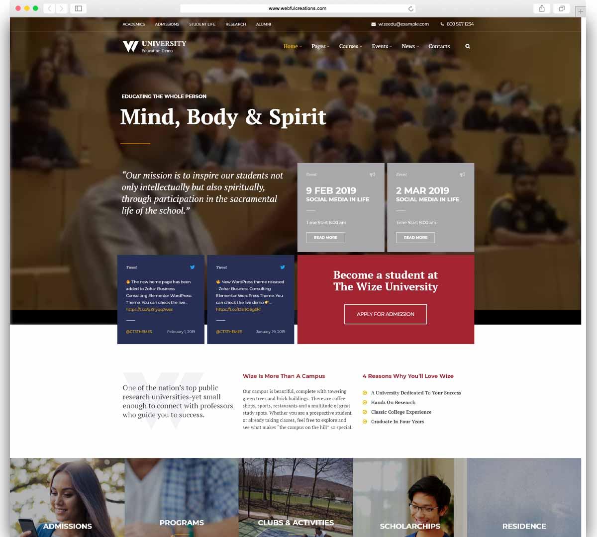 Education - Courses & Events LMS WordPress Theme - WizeEdu