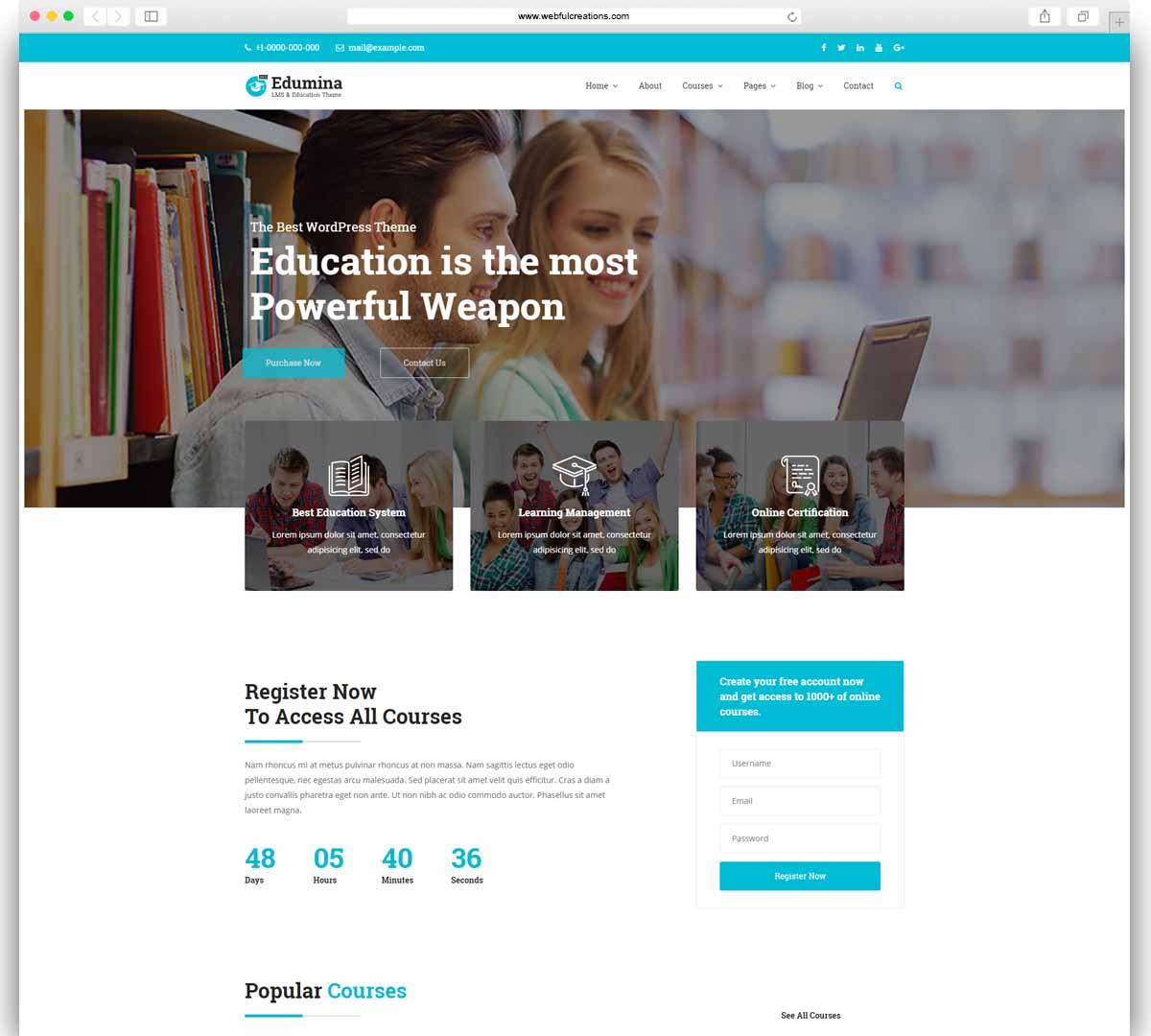 Edumina - LMS & Education WordPress Theme