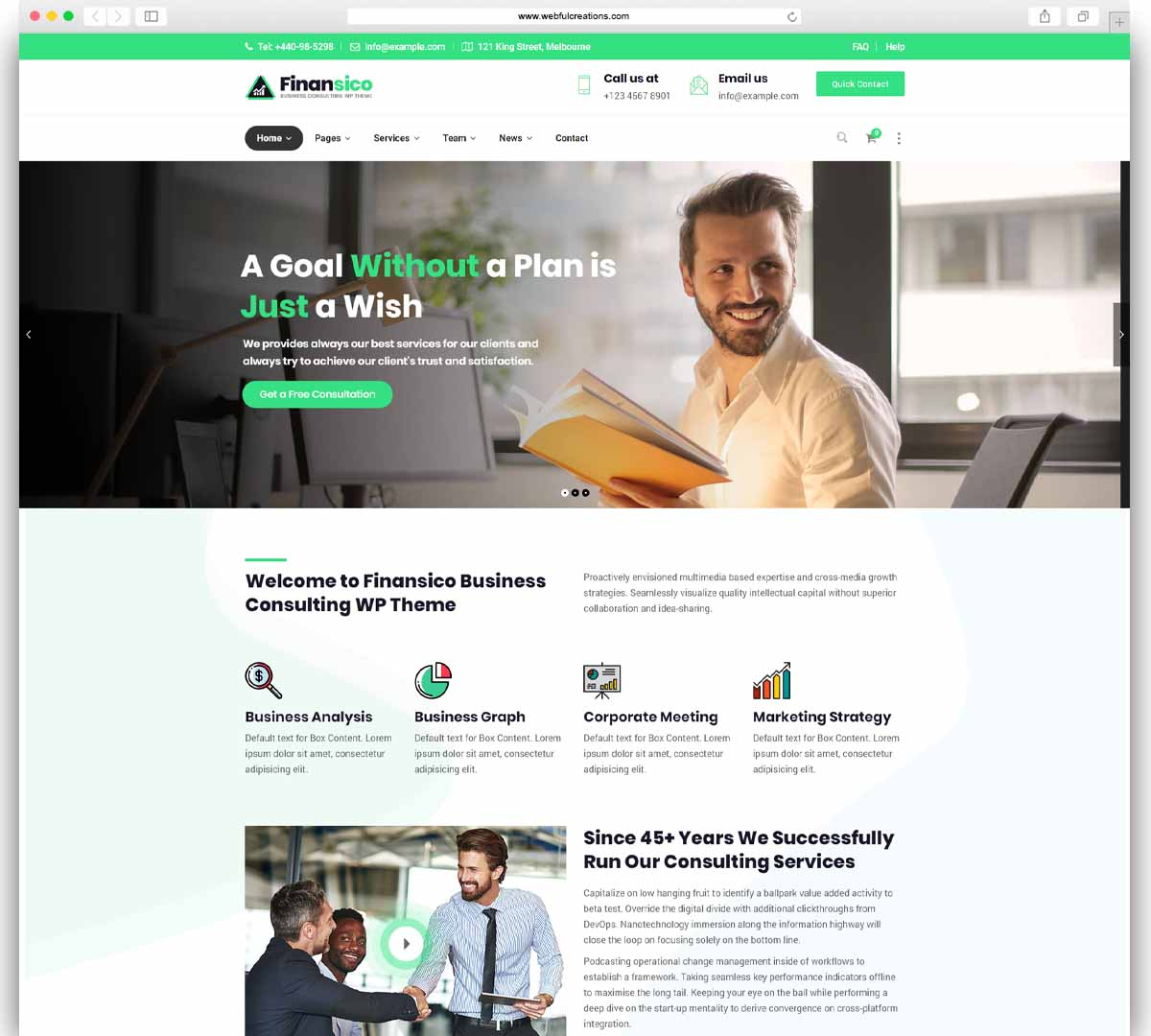 Finansico - Business Consulting Finance WP