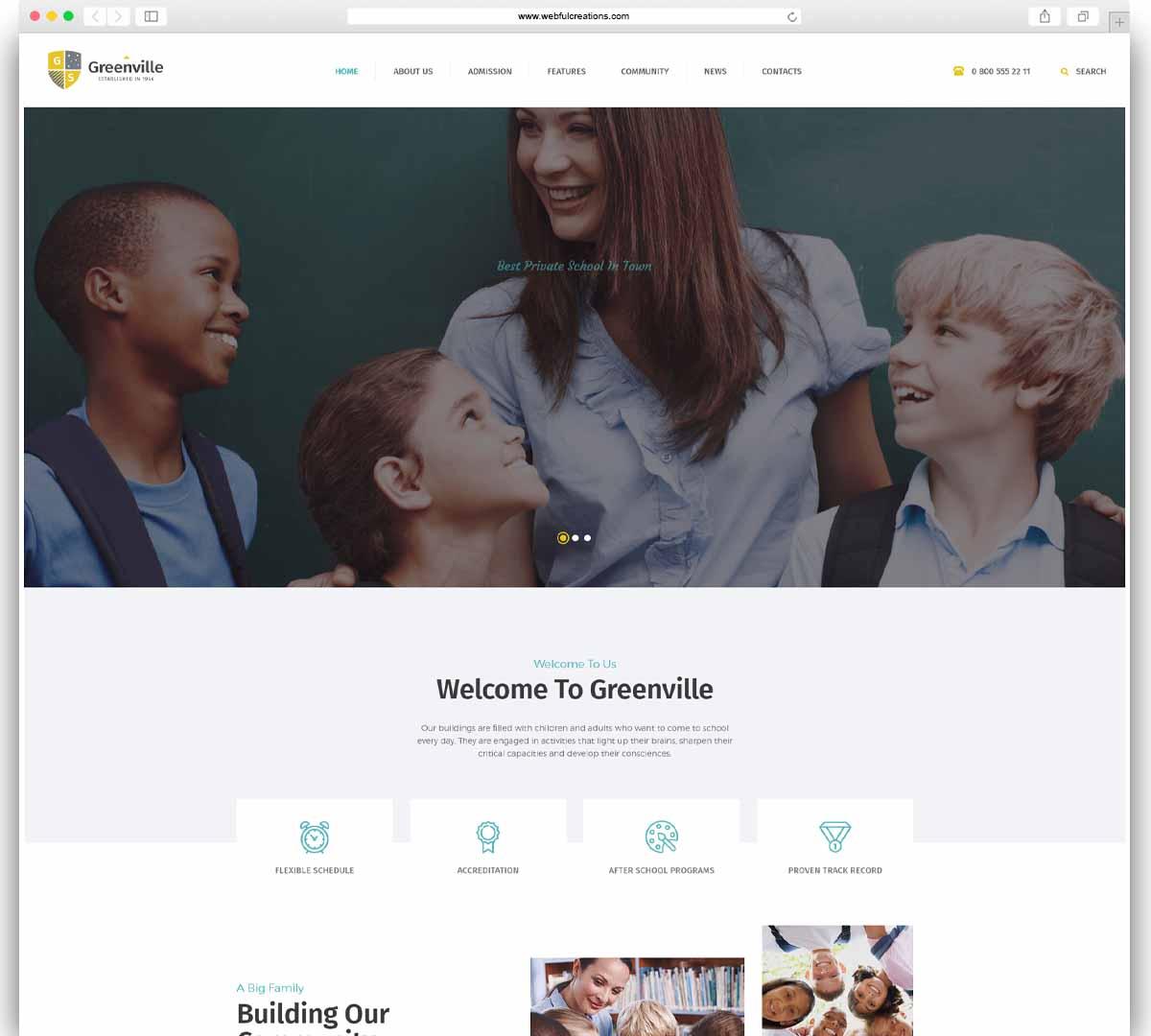 Greenville Private School WordPress Theme
