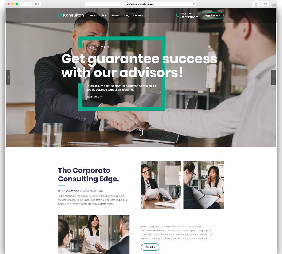 Konsultan - Consulting Business WordPress Theme
