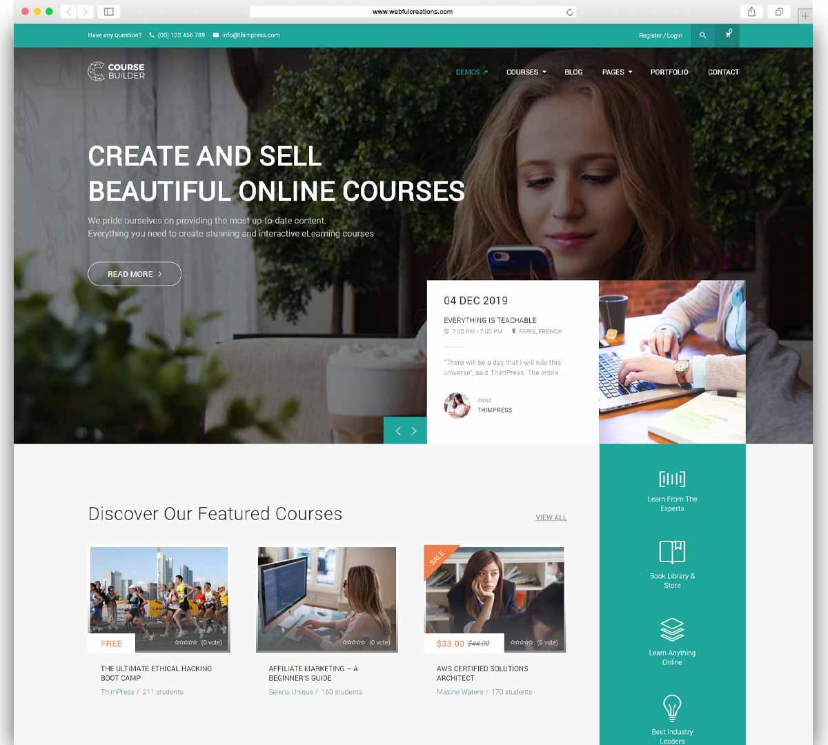 LMS WordPress Theme for Online Courses, Schools & Education