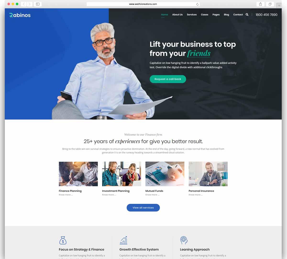 Rabinos - Business Consulting WordPress Theme