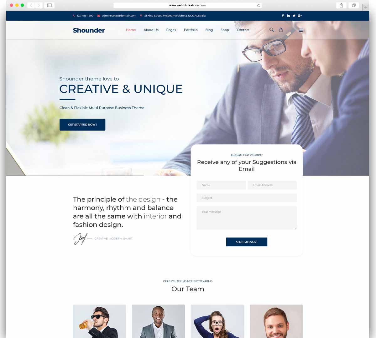 Shounder Business Consulting WordPress Theme