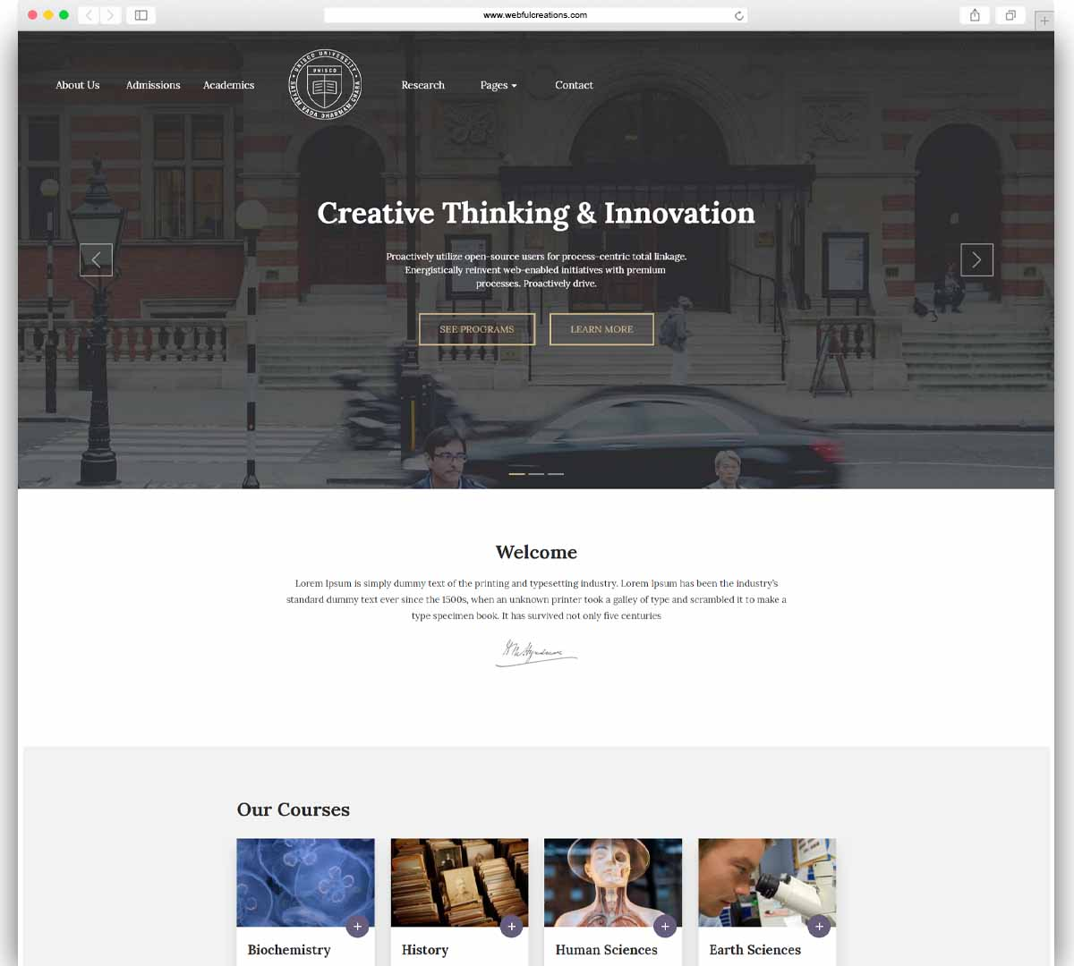 Unisco - Education WordPress Theme