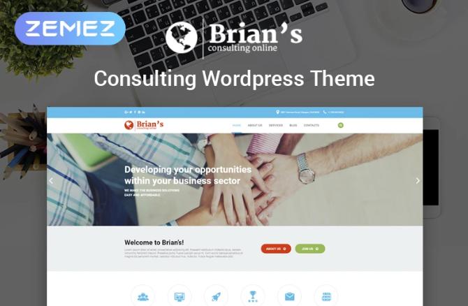 brians consulting company WordPress Theme
