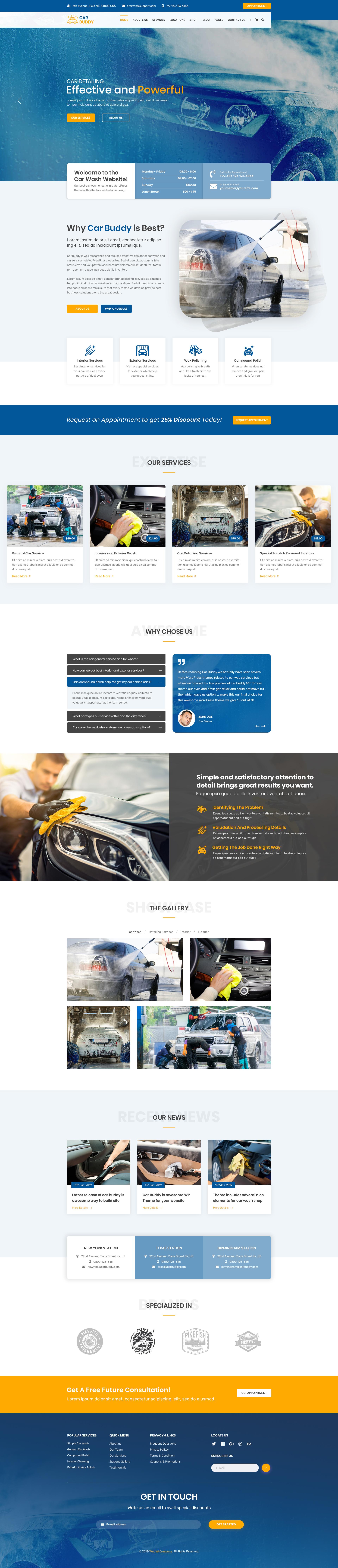 Car Wash PSD template