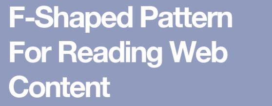 F-Shaped Pattern