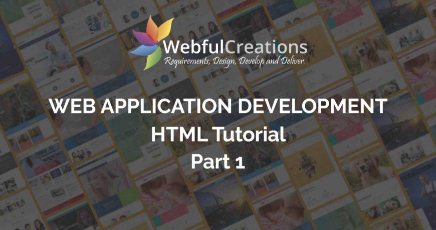 web application development html tutorial part 1