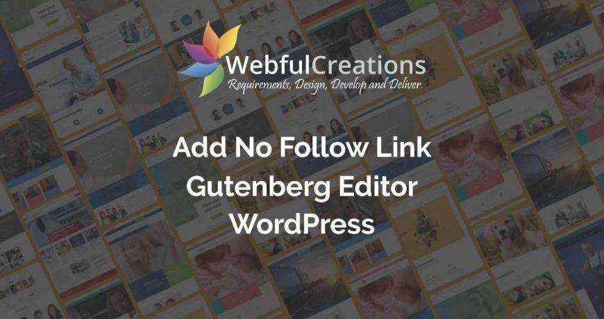 Add Nofollow link in Gutenberg WordPress