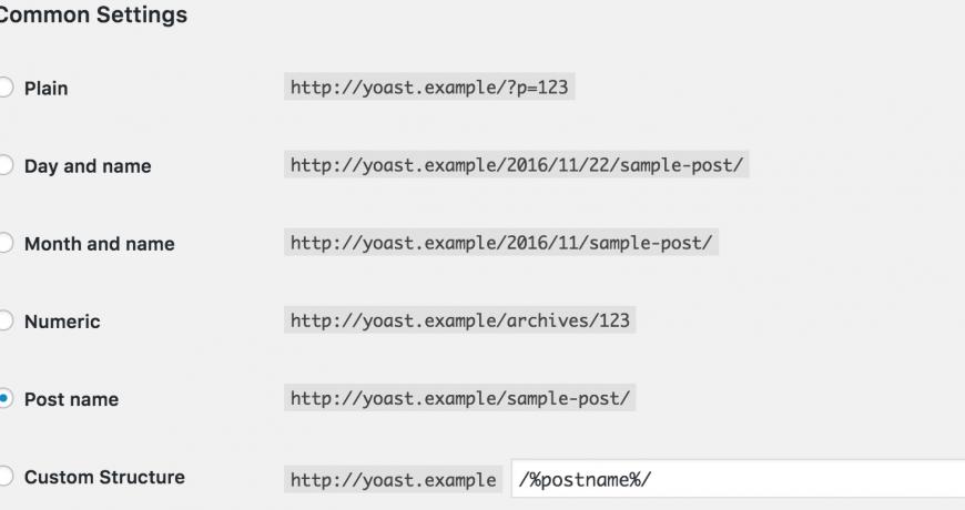 Reset WordPress PErmalinks