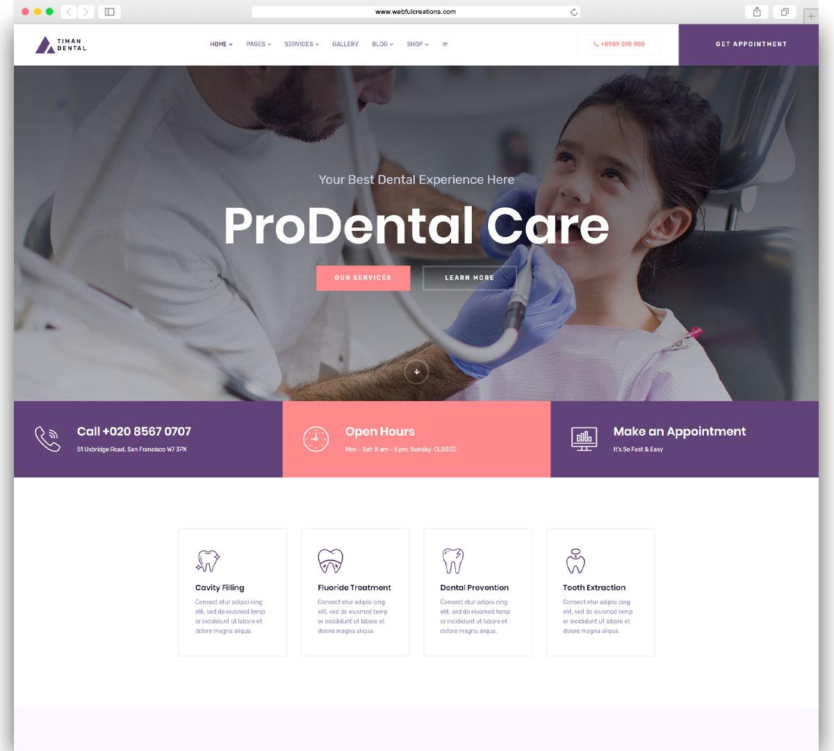 Timan Dental - Dental WordPress Theme